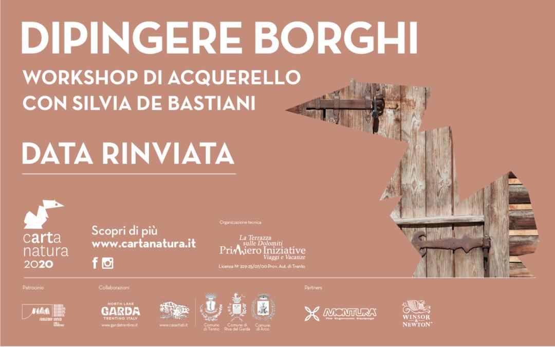 """Corso """"Dipingere borghi"""" rinviato a causa Covid-19"""